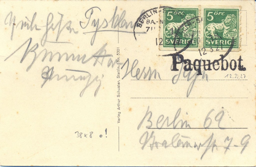 Berlin Sassnitz TPO 825 (D) Schilling