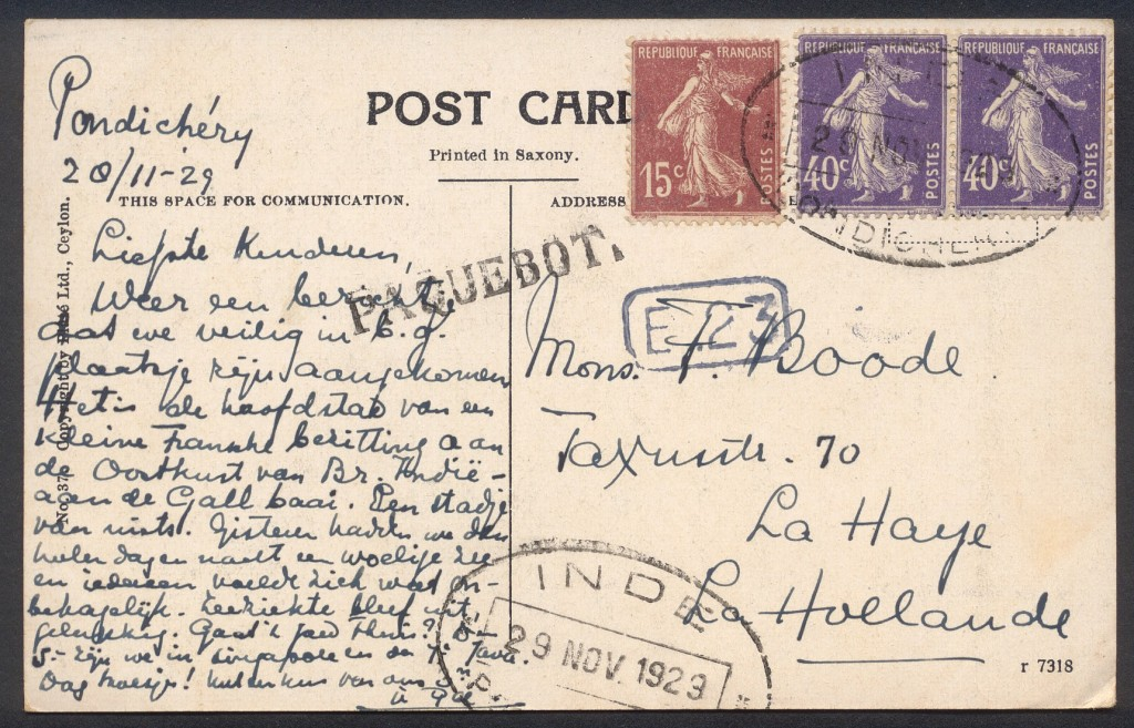Pondicherry 3015 (B) Stratmann