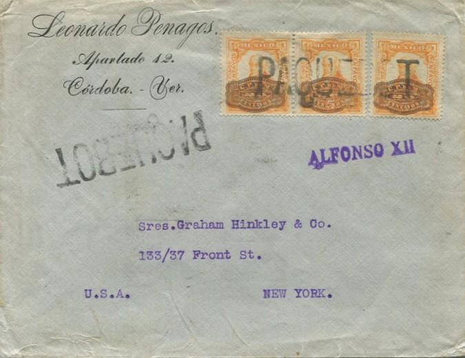 Havana 2391 (K) Mexico 1916