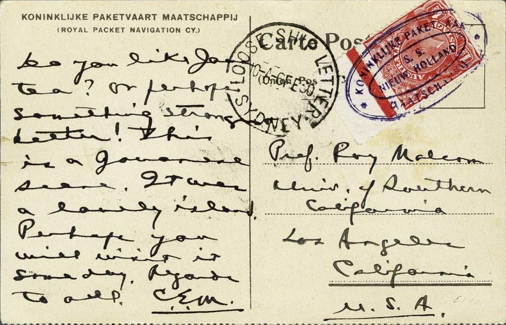 Sydney 1503 (F)vom 6 2 1930